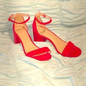 Red A new day chunky heels